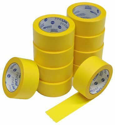 """10x IPG 2"""" Yellow Clean Release Fine Line Razor Precision Painters Masking Tape"""