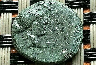 Sardes, Lydia 133-1 Bc Ae16 Apollo & Club Ancient Greek Bronze Coin