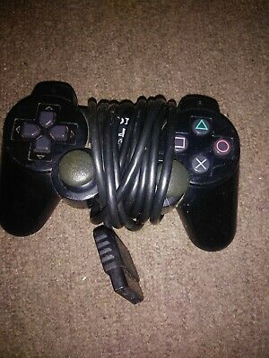 Official Sony PlayStation 2 PS2 DualShock 2 Black Controller Used Authentic OEM