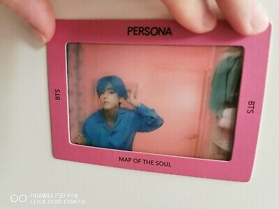 BTS MAP OF THE SOUL: PERSONA TRANSPARENT PHOTO PICKET + FRAME: V (1 card)