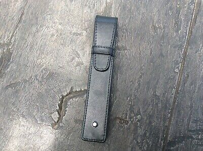 Montblanc Pen, Black Leather Pouch/case, Single pen - not in a good condition