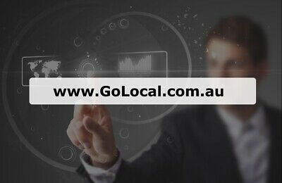 TOP DOMAIN NAME- GoLocal.com.au - First time offered