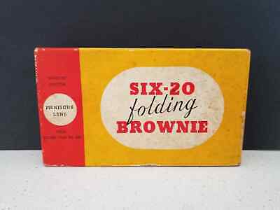VINTAGE 1930s Kodak Six-20 Folding Brownie Camera Original Box & User Guide