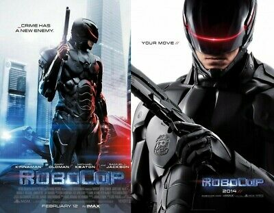 MINT RoboCop 27x40 Original Double Sided Movie Theater Poster SET LOT + 2x DS