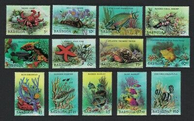 Barbuda Fishes Crabs Starfish Triton Marine Life 13v MNH SG#960-972