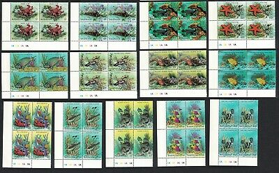 Barbuda Fishes Crabs Starfish Triton Marine Life 13v Blocks of 4 Traffic Lights