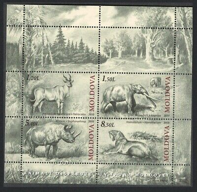 Moldova Mammoth Cave Bear Cave Lion Bison Extinct Fauna MS MNH MI#Block 51