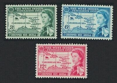 St. Kitts-Nevis British Caribbean Federation 3v MNH SG#120-122