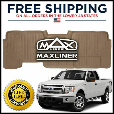Black MAXLINER B0028 Floor Mats for Ford F-150 Super Crew Cab 2009-2014 2nd Row