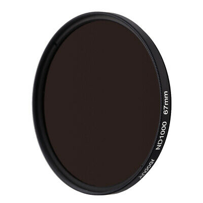 Andoer 67mm ND1000 10 Stop Fader Neutral Density Filter for Nikon Canon I2D7