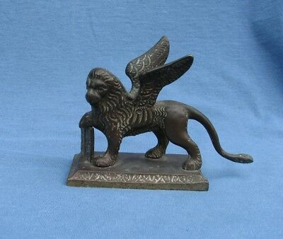 Antique Brass Winged Lion of Saint Mark Republic of Venice GRAND TOUR