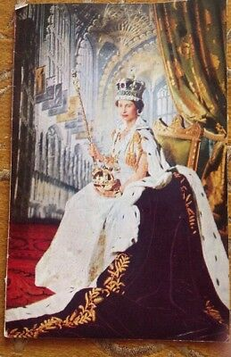 Booklet, Queen Elizabeth II, Empire Youth Sunday 30th May 1954 Free Post