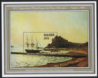 Zaire Ship Painting by Antonio Pitloo MS MNH SG#MS1012 SC#970