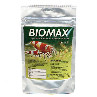 GENCHEM BIOMAX  2  Food Granules for Crystal Tiger Red Cherry Freshwater Shrimp