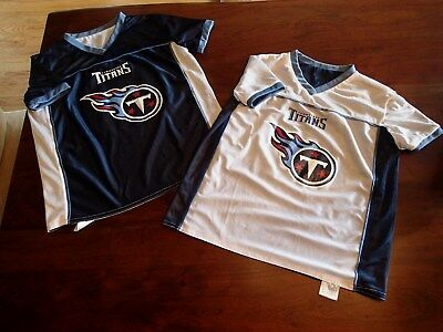 3aaa639b4 Tennessee Titans Blue White Reversible NFL Flag Football Youth Jersey Size  Large