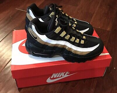 3ed0e71591 Nike AT2865 002 Air Max 95 OG Black Gold Running Shoe Sz Mens 5.5 Women's 7