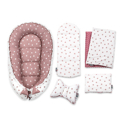 Baby Nest Set Newborn Cocoon Infant Bedding Set Blush Flowers Perfect Girl Gift