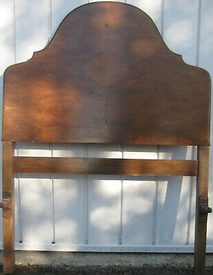 Vintage Single Bed with Metal Frame, Angle Irons & Mahogany Head and Tail Boards