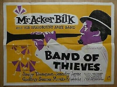 Super 8mm sound 4X400 BAND OF THIEVES. Aker Bilk 1962 musical crime drama.