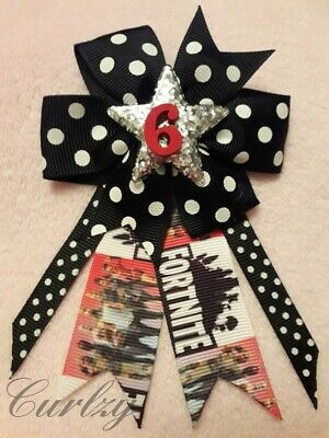 Fortnite Ribbon Handmade Personalised Add Any Age Birthday Badge Rosette
