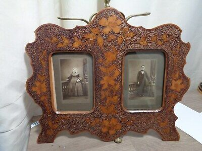 Large  arts and crafts poker work photo frame