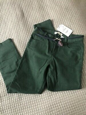 Zara Girls Bottle Green Slim Trousers 10 Years