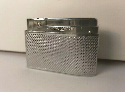 Accendino Silver Match Compound-Lighter-Mechero-Briquet-Feuerzeug-Vintage