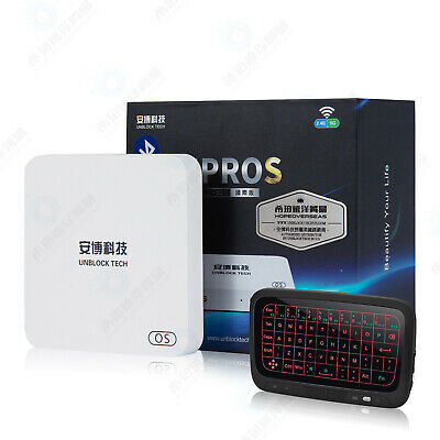 Unblock Tech 2019安博盒子7代 HOPE OVERSEAS美國行貨 UBOX7 UProS I9 2g+32g OS Gen7 TV Box