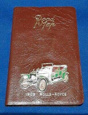 pocket Road Map, Leather 1960s, very good condition
