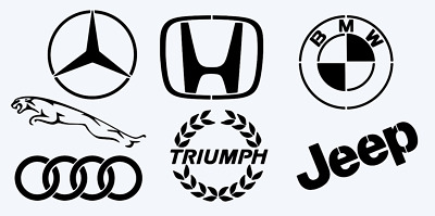 Custom Logo's/Car Logos wall art stencil or posters ,Strong,Reusable,Recyclable