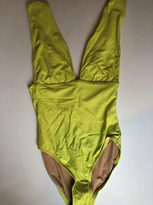 7982c0676bc NWT JCrew $98 Plunge V-Neck One-Piece Swimsuit Size 4 Lemon Sorbet G9417