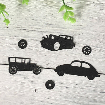 4pcs Classic Cars Metal Cutting Dies For DIY Scrapbookings Album Paper Cards  Fz