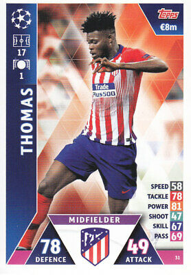 TOPPS MATCH ATTAX CL 2018-19 - Thomas - Atletico Madrid - # 31