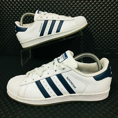 910e88b50bb adidas Originals Superstar (Youth Size 5.5) Kids Athletic Shoes White Blue
