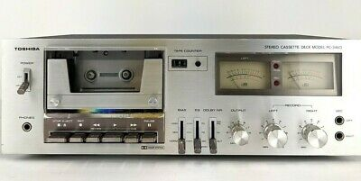 Toshiba Stereo Cassette Deck Model PC-3460 Recorder Player Vintage - Tested