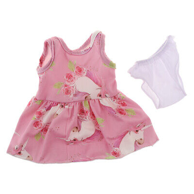 Lovely Printed Princess Dress Casual Clothes for AG American Doll Doll Outfits