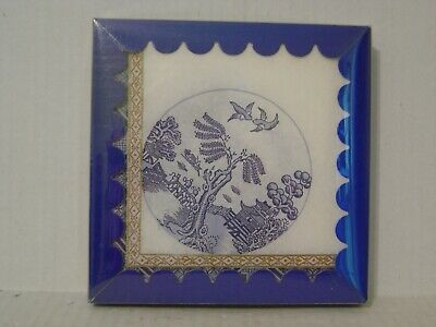 Vintage Box Of Freund Mayer Blue & White Asian Motif Paper Napkins Made Denmark