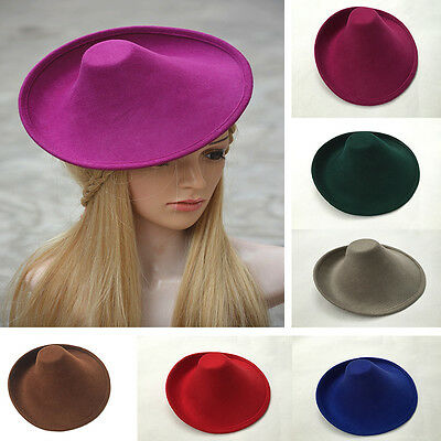 Womens Unique Wool Felt Millinery Craft Hat Base Fascinator A264