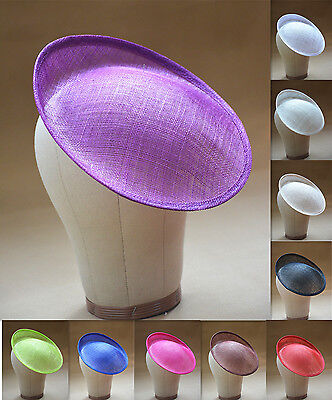 "9.8"" Round Saucer Teardrop Percher Hat Fascinator Millinery Craft Base B055"