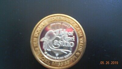 Isle of Capri Casino .999 Fine Silver Biloxi MS Limited Edition Collector's