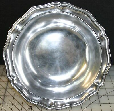 "Vintage Wilton Rwp Armetale Pewter Ware Colubia 10"" Polished Queen Anne Bowl"