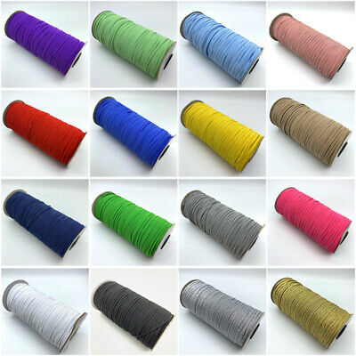 5yards 3mm Sewing Elastic Band Elastic Fiat Rubber Stretch Rope Elastic Ribbon