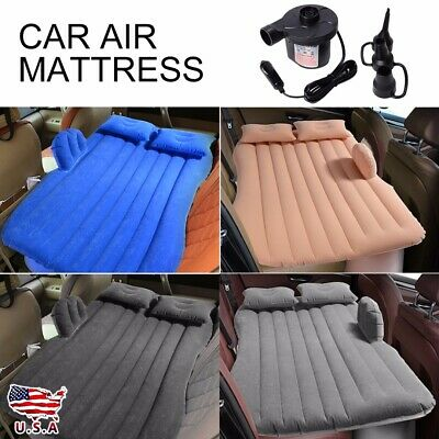 Inflatable Travel Car Air Mattress Bed Back Seat Sleep Rest Mat With Pump USD