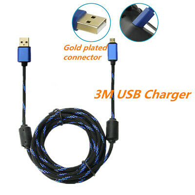 3M USB PS4 Controller Charging Charge Charger Power Cable for Play Station 4 AU