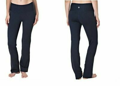 fc9173684a Tuff Athletics Womens Black Pull-On Leggings Yoga UPF 40 NWT Fast Free Ship  Sz