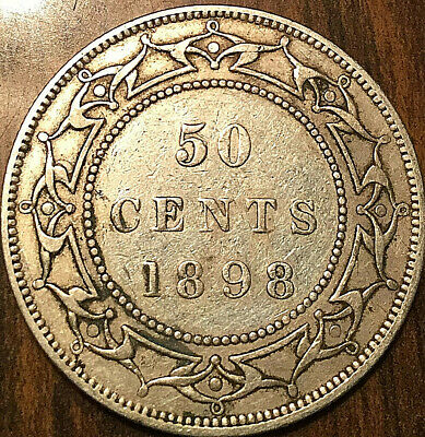 1898 NEWFOUNDLAND SILVER 50 CENTS - Excellent example!