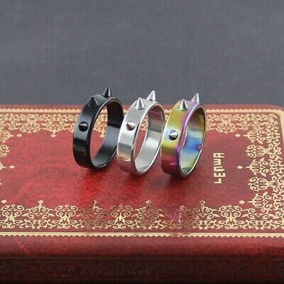 Self-defense Product Stainless Steel RivetTool Ring Mens Women Safety Rings