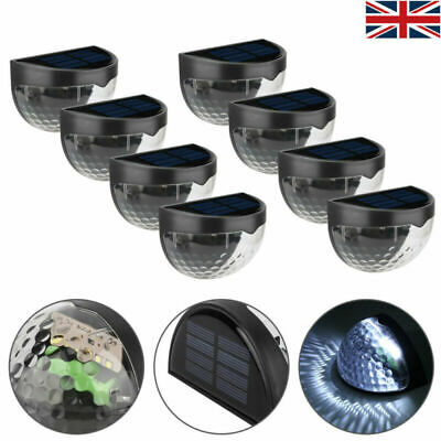 Waterproof Solar Powered Led Deck Fence Lights Outdoor Garden Landscape Lights