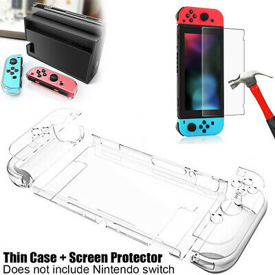 Thin Protective Case Cover +Tempered Glass Screen Protector For Nintendo Switch