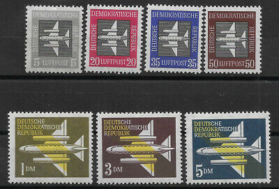 "GERMANY (DDR)  - 1957 MNH ""Air Mail Issues Stylized Plane"" Complete Set !!!"